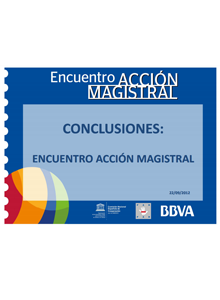 Conclusiones Accion Magistral 2012