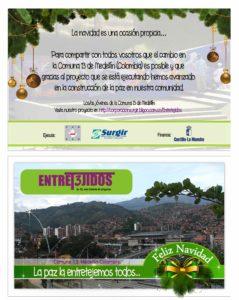 Entresijos Colombia tarjeta navidad